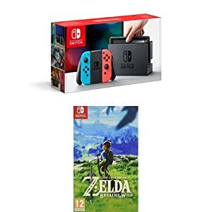 Nintendo Switch Neon with The Legend of Zelda: Breath of the Wild