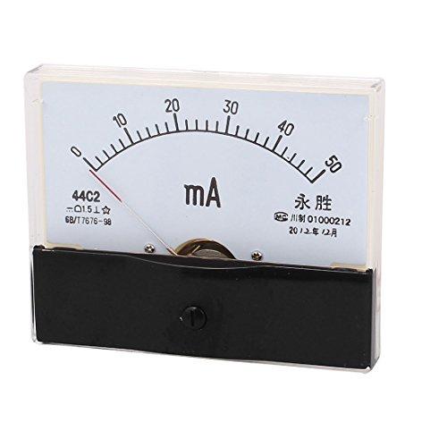 sourcingmap 44C2 DC 0-50mA Klasse 1,5 Genauigkeit vertikal montiert analogen Amperemeter