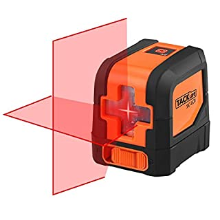 Tacklife SC-L01 Classic 15M Cross Line Laser Self-leveling line and Vertical Line Brighter Red Laser with a 360° Swivel Magnetic Base (A Protective Bag Included)