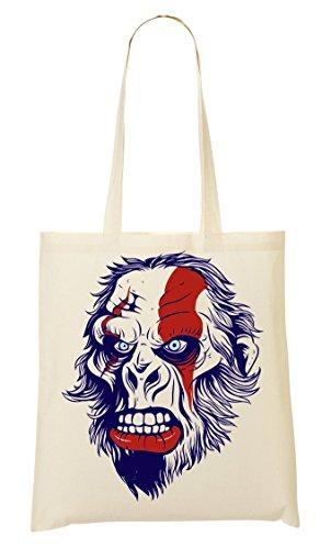 ToteWorld Angry War Painted Ape Tragetasche Einkaufstasche