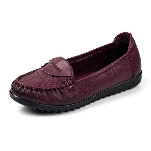 Chaussures plates occasionnelles/Chaussures souples anti-dérapant/Chaussures de maman/Chaussures confortables B