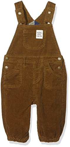 Pumpkin Patch Baby Boys 0-24m Cord Dungarees, Brown (Toasted Coconut), 3-6 Months