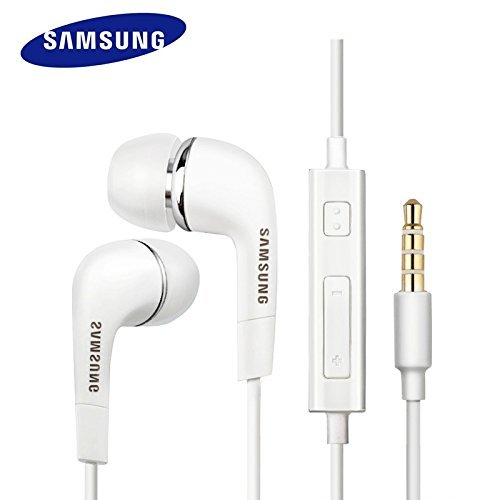 YR Samsung Compatible Ultra High Bass IN-Ear Earphone With MIC and Remote Volume up and Down For all Samsung Devices (White)