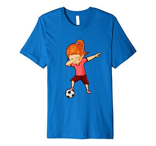 (Fußball Shirt für Mädchen Funny Sanftes DAB Dance Fußball)