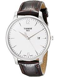 Tissot T0636101603700 - Reloj analógico de cuarzo para hombre con correa de piel, color plateado