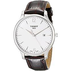 Tissot T0636101603700 - Reloj Analógico Para Hombre, color Blanco/Marrón