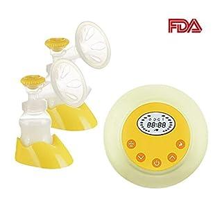 Elektrische Milchpumpe, angeer Dual Stillen Pumpe Automatische Massage mit verstellbarem Saugnapf Stärke