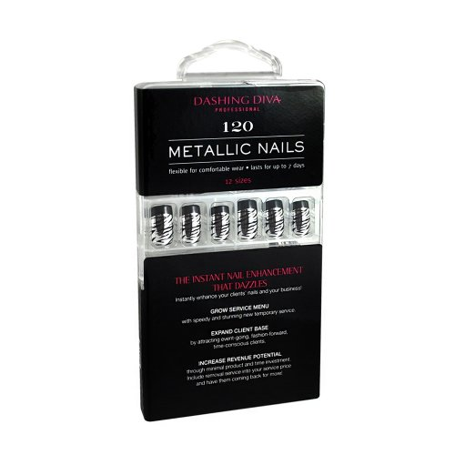 Dashing Diva - Full Cover Metallic Nails - Show Time - 120 Count