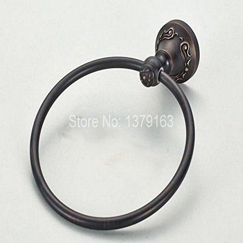 Handtuchring Neues Badezimmer Zubehör an der Wand montierten Schwarzen Öl eingerieben Messing Bronze Schöne Muster Handtuchhalter Halter ABA 446 (Nickel Handtuchhalter Halter)