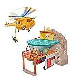 Idealtrend Feuerwehrmann Sam Bergrettung Station mit Figuren und Hubschrauber Wallaby