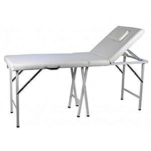 Lit esthétique transportable Ottawa,Table de massage pliable avec trou facial et dossier inclinable