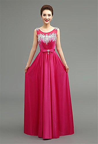 Drasawee - Robe - Taille empire - Femme Rosy Red