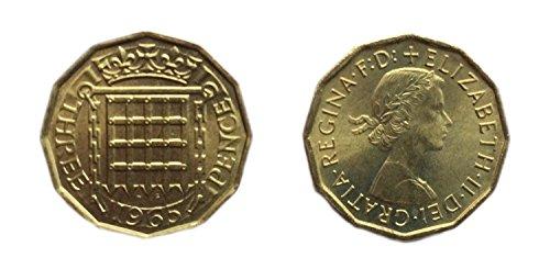 Münzen für Sammler - Unzirkuliert 1965 britische Drei Pence / Groschen Bit Coin / Großbritannien -