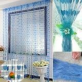 Ramcha Blue Heart String Curtain (2.00),...