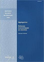 Agrégation Sciences économiques et sociales : Concours interne