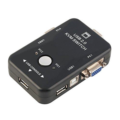 Conmutador KVM de 2 Puertos USB y VGA