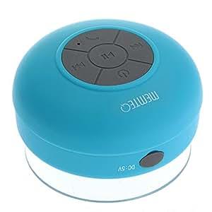 MEMTEQ® Bluetooth Cassa Altoparlante Speaker Azzurro a Ventosa Impermeabile X Cellulare