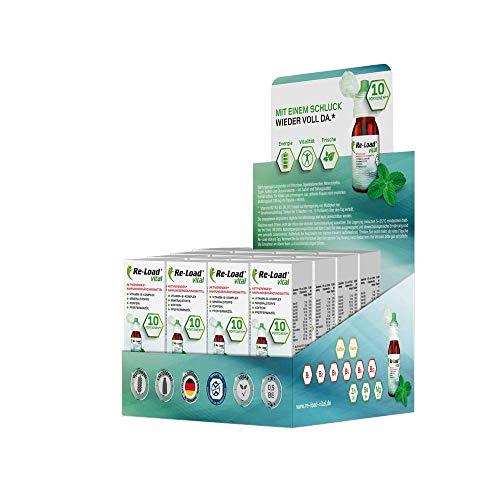 vital Vitamin-B-Komplex | 16 x 10 Portionen, Hochdosiert, Schnell wirksam | B2, B3, B5, B6, B12 + Mineralstoffe + Koffein + Pfefferminzöl | Vegan, Laktosefrei, Glutenfrei -