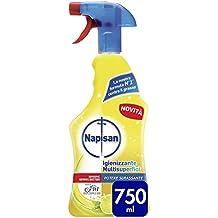 Napisan Spray Igienizzante Multisuperfici Potere Sgrassante, 750 ml, 12 confezioni