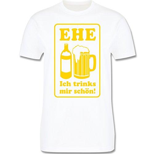 JGA Junggesellenabschied - Ehe - Ich trinks mir schön - Herren Premium T-Shirt Weiß