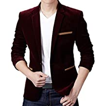 URSING Herren Sakko Anzugjacken Herbst Winter Casual Cord Slim Fit Langarm Mantel  Anzug Jacke Classic Blazer 4daba83699