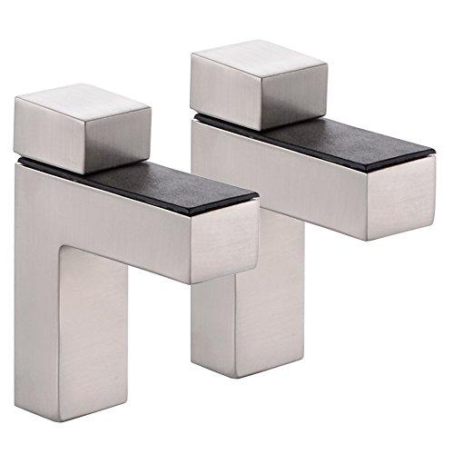 KES Soportes Para Estantes Ajustable Metal Sólido Pared Montaje, 2 Piezas, Cepillado,...