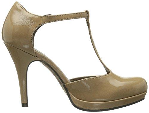 Tamaris 24428 Damen Mary Jane Pumps Beige (Nude Patent 267)