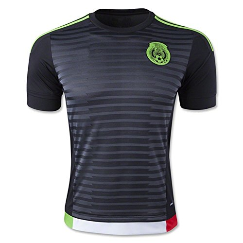 2018 FIFA World Cup Mexiko DIY Namen und Zahlen Third National Football Soccer Jersey in Schwarz xl schwarz - schwarz (Mexico Cup World)