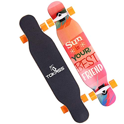 jbd skateboard da 42 pollici tavola da skateboard completa da 8 pollici con tavola da skateboard completa a doppio strato per sport estremi e all'aperto, 2