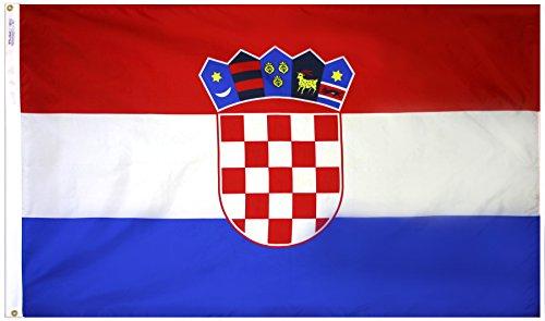 Annin Flagmakers Nylon SolarGuard NYL-Glo Flagge von Kroatien 3x5' Nicht zutreffend - Nyl Banner
