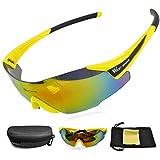 oeste biking nueva Ciclismo Gafas para conducir/Running/racing-lifetime rotura Fashion lente Protección de Ojos, hombre Niños Infantil Unisex mujer, Yellow Black