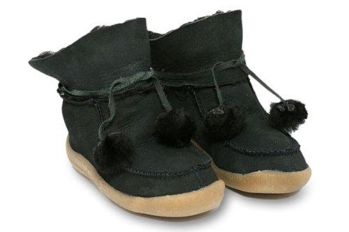 Haflinger 533002 H?ttenschuhe Pfiffikus-Lamm Bummi schwarz schwarz