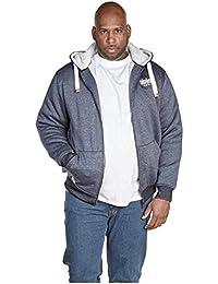 Duke Mens King Size Halbert Or Fletcher Fully Faux Fur Lined Hooded Sweat Jacket