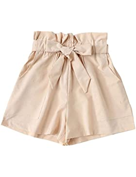 SHOBDW Las Mujeres de la Manera del Verano del Bolsillo Sueltan los Pantalones Casuales Calientes señora elástico...
