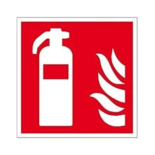Brandschutzzeichen - Brandschutzschild Feuerlöscher Folie selbstklebend 148 x 148 mm