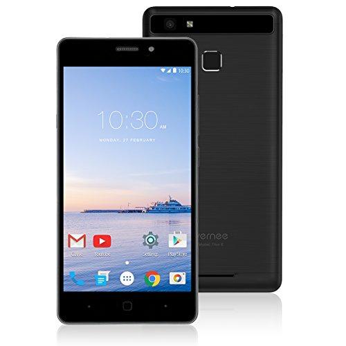 Smartphone Ohne Vertrag,Vernee Thor E 4G LTE Dual SIM Handy, 5.0 Zoll Bildschirm,Android 7.0 Octa Core 3 GB RAM 16 GB Speicher mit 5020mAh Batterie, Fingerabdruck (Schwarz)