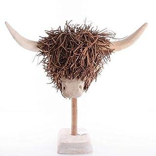 Voyage Maison Highland Cow, Wooden Sculpture
