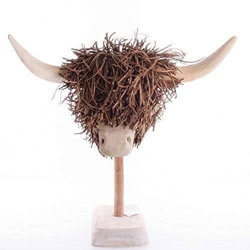 Highland Cow, Wooden Sculpture by Voyage Maison
