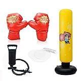Sac de Boxe,Sac Gonflable de Poinçonnage Tour Sac Colonne de Punching Ball,la Boxe,...