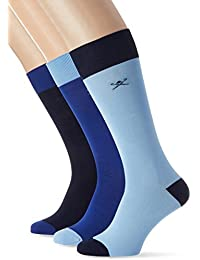 HACKETT Logo 3PK Simple Socks, Calcetines para Hombre
