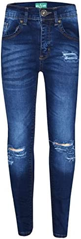 JollyRascals Girls F/&F Jeggings Jeans New Kids Denim Skinny Trousers Stretchy Pants Blue Grey Bottoms Full Length Ages 6 7 8 9 10 11 12 13 Years Grey 7-8 Years