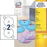 Avery Zweckform CD-Etiketten Inkjet/Laser/Kopier 117mm weiß SuperSize VE=200 Stück