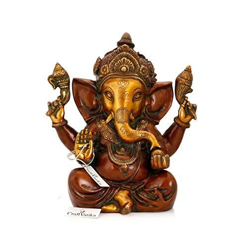craftvatika Ganesha Messing Statue Hindu Gott Ganesha Skulptur Viel Glück Figur