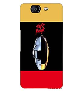 PrintDhaba Helmet D-5491 Back Case Cover for MICROMAX A350 CANVAS KNIGHT (Multi-Coloured)