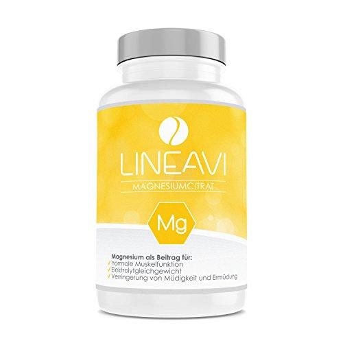 Citrate) 90 Tabletten (LINEAVI Magnesiumcitrat • 375mg Magnesium pro Tagesdosis • unterstützt Muskeln, das Nervensystem und den Energiestoffwechsel • in Deutschland hergestellt • 90 vegetarische Kapseln (1-Monatsvorrat))
