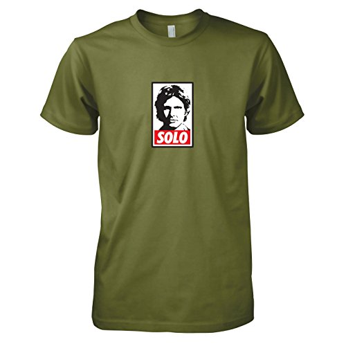 TEXLAB - SW: Solo - Herren T-Shirt, Größe XL, oliv (Prinzessin Leia Jabba The Hutt Kostüm)