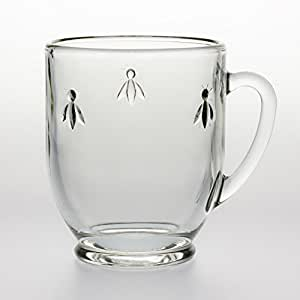la rochere becher biene becherglas teeglas mit bienen motiv trinkglas mit henkel griff. Black Bedroom Furniture Sets. Home Design Ideas