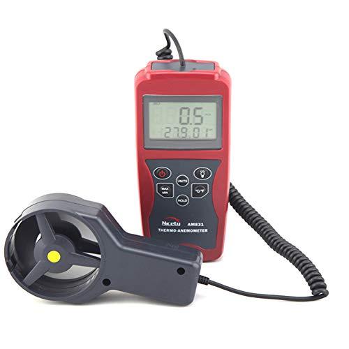 YBYBYB Anemometer-Handanemometer-Aufgeteiltes Hohes Präzisionsmessgerät Passend Für Das Surfen des Bergsteigens Im Freien,Red,73 * 155 * 36Mm