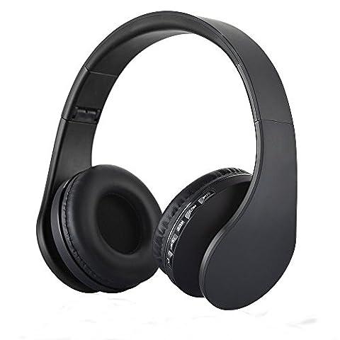 PUGO TOP Bluetooth Oreillette,Casque stéréo Sans-fil Bluetooth NFC Supra aural - Écouteurs avec microphone intégré (Bi Direzionale Stereo Audio)