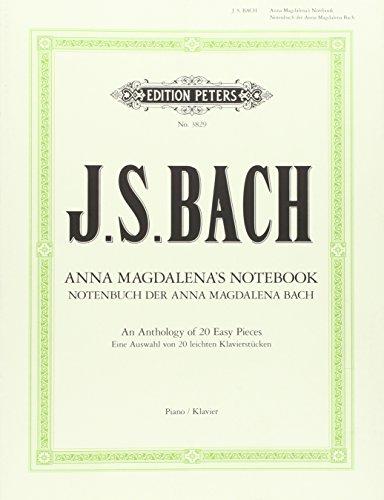 Notenbuch der Anna Magdalena Bach: Auswahl von 20 leichten Klavierstücken par Johann Sebastian Bach